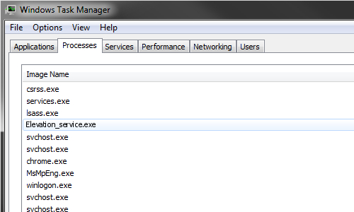 What is Elevation_service exe?