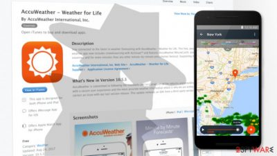 AccuWeather shares iOS users location data