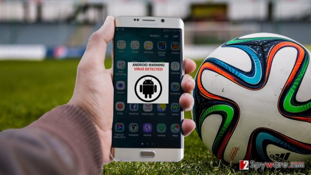 An image of fifa android virus infection
