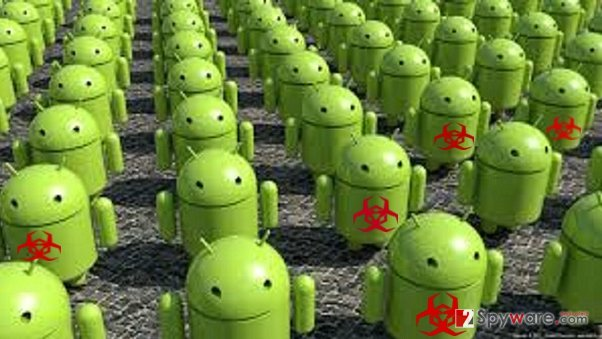 Infected Android apps