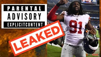 Football star from New York Giants embarrassed after leaked nudes