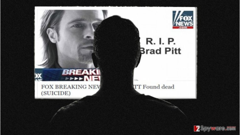 Celebrity death scams hit the second gear with Brad Pitt's suicide hoax
