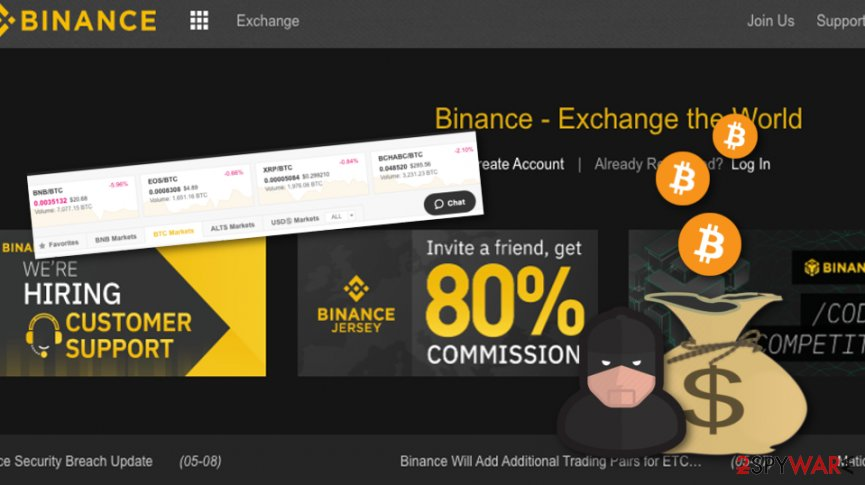 Bad actors have stolen $40 M in BTC from Binance