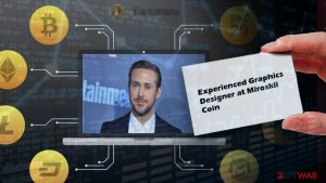 Ryan Gosling used as a face of fake Miroskii cryptocurrency