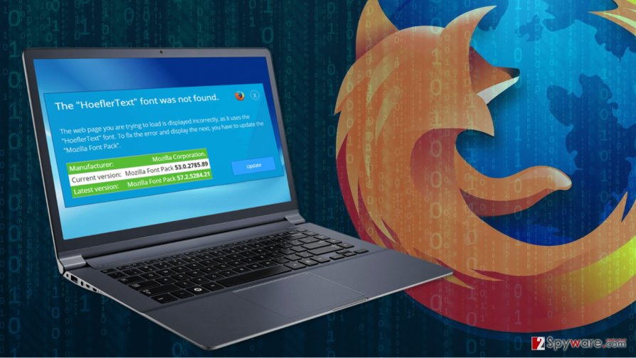 HoeflerText scam attacks Mozilla Firefox
