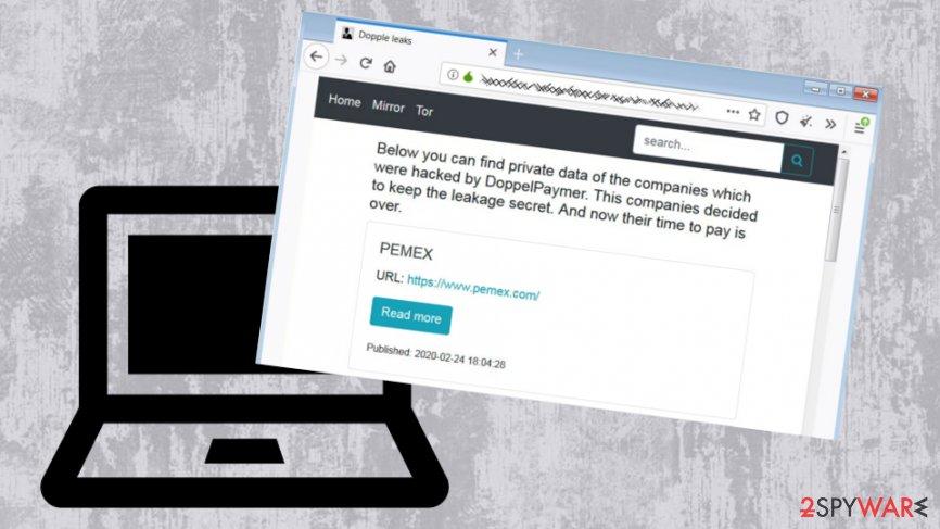 DoppelPaymer malware creates Dopple leaks site for victim data reveal