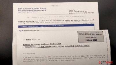 EBN European Business Number scam