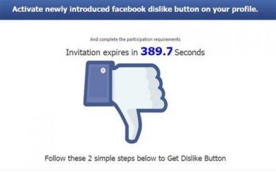 """Steer clear of Facebook """"Dislike"""" scams!"""