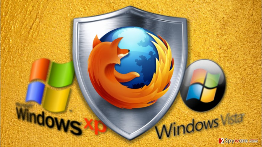 image of firefox extending support for windows xp and vista