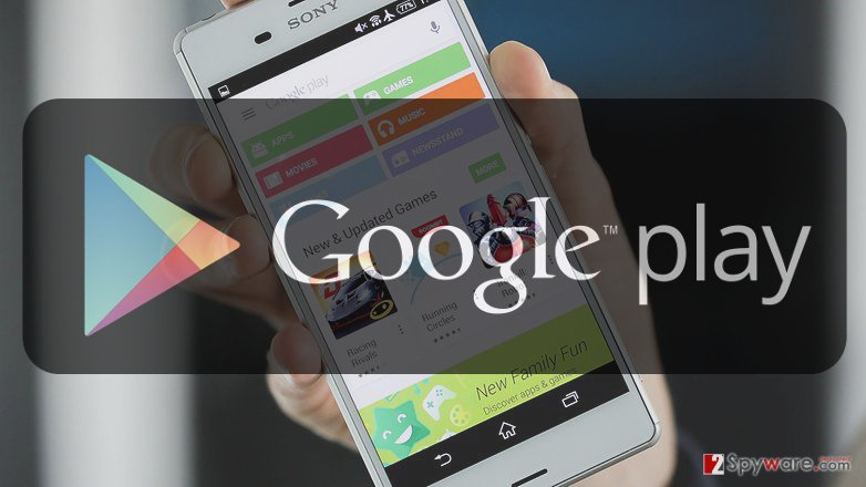 An image of the Google Play store app