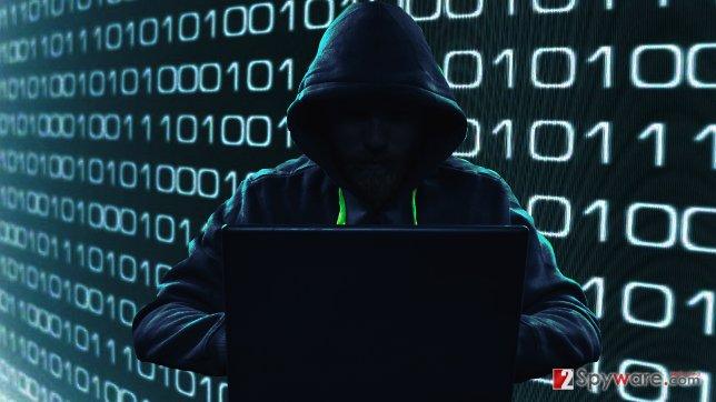 An image of a hacker stealing passwords