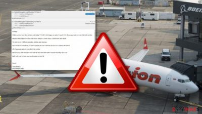 Latest Boeing 737 accidents used to spread malware via email spam