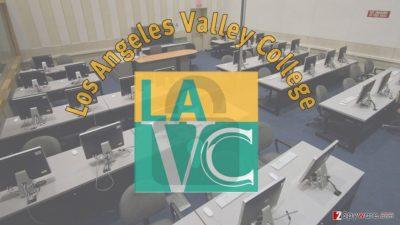 Image of ransomware attack on LA college