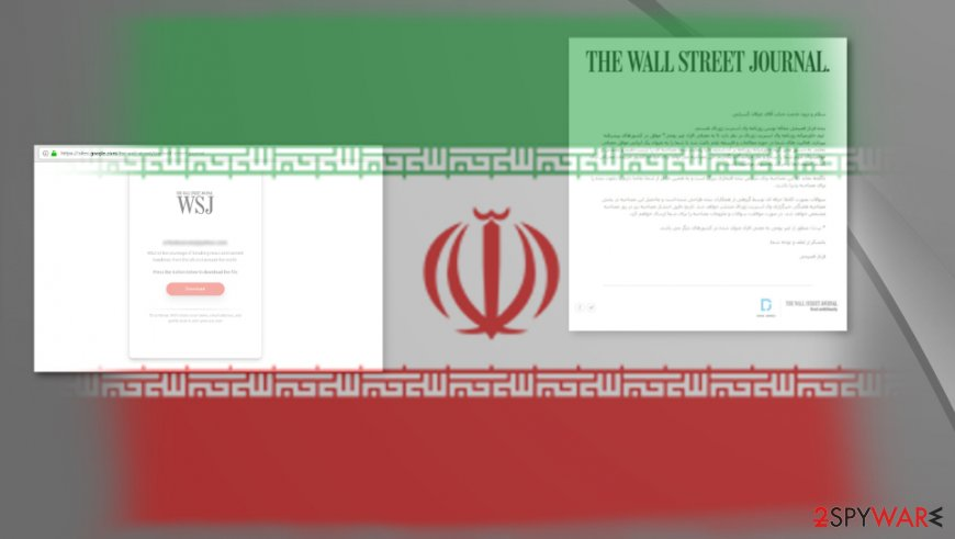 Emails from journalists with red flags got distributed to Iranians in other countries