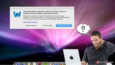 Mac OS virus deceives users by asking them to enable macros