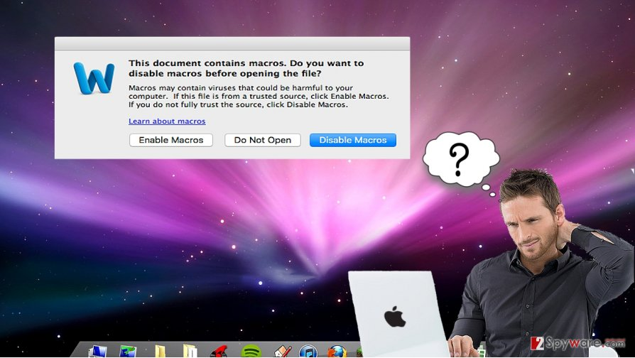 Enable macro settings? A new virus paves its way into Mac OS computers