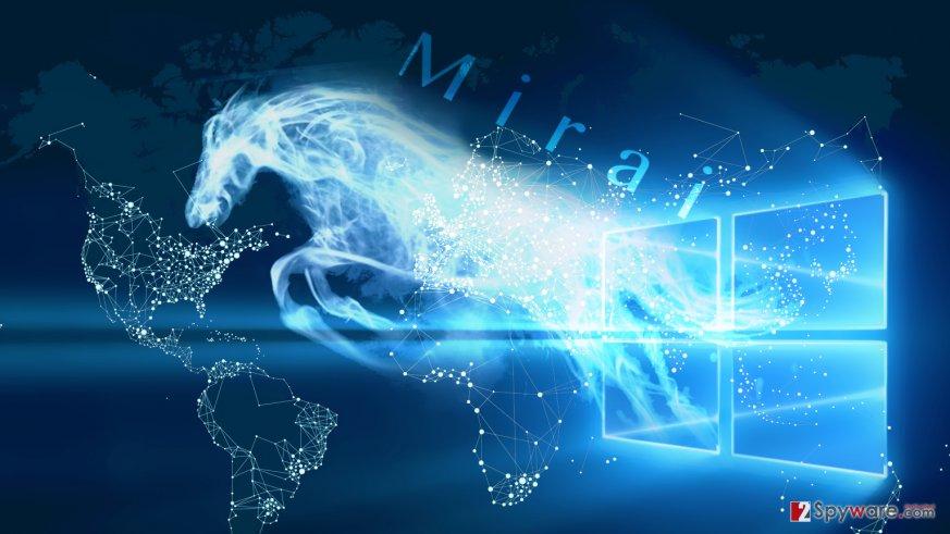 Mirai Trojan contributes to Mirai malware distribution