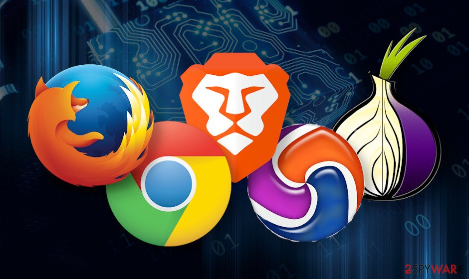The browsers aiming at privacy protection and online security