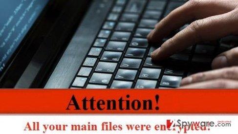 Ransomware protection warning