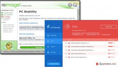 Reimage vs Plumbytes Anti-malware