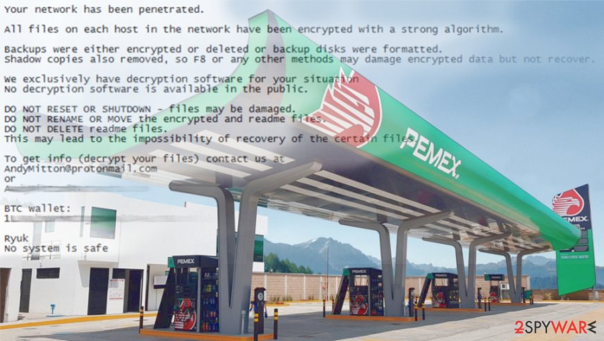 Pemex had to disable servers due to Ryuk virus