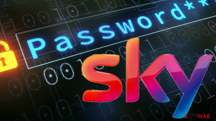 Sky locking accounts to reset users' passwords