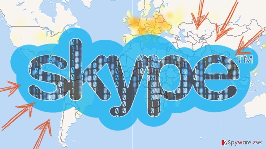 Image of Skype DDoS attack