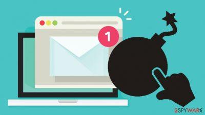 Spam email illustration