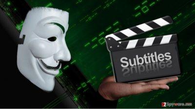 Image showing hackers distributing malware via subtitles