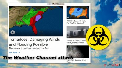 The Weather Channel's show did not launch due to a malicious attack