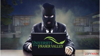 The hacker trying to steal sensitive information