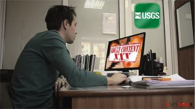 USGS employe used his work computer to access adult sites