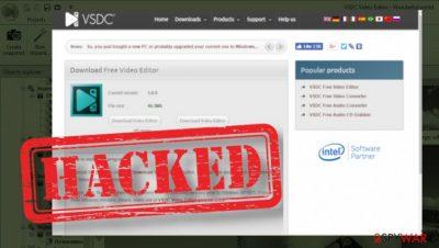 VSDC video editor website hacked