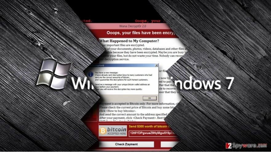 The majority of WannaCry victims were running Windows 7