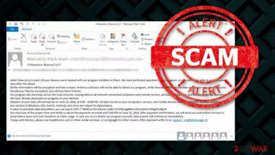 WannaCry attack scam