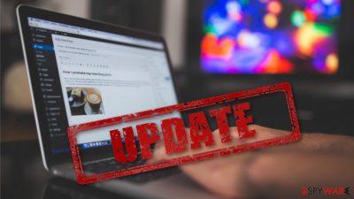 WordPress update