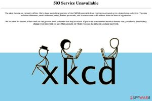 XKCD web comic is warning about compromised user data