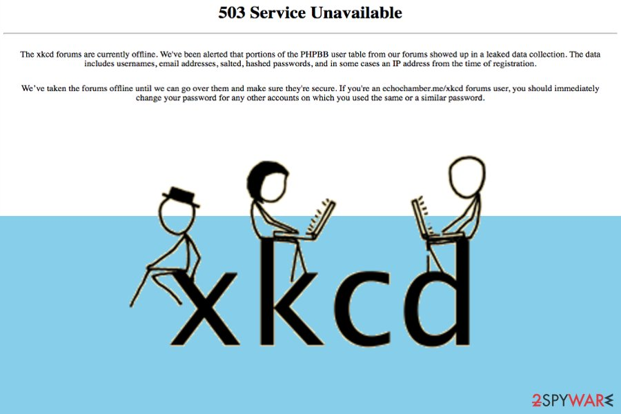 XKCD webcomic service's data leak activity affects over 560,000 people