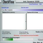 CheckFlow Anti Spyware 2005 snapshot