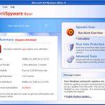 Microsoft AntiSpyware Beta1 snapshot
