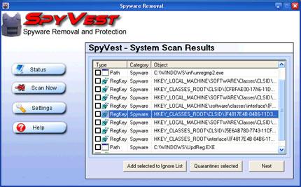 SpyVest snapshot