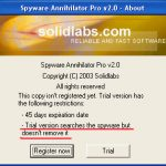 Spyware Annihilator snapshot