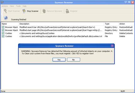 Spyware Removal snapshot