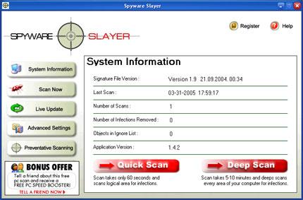Spyware Slayer snapshot