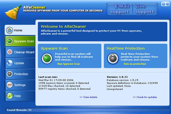AlfaCleaner snapshot