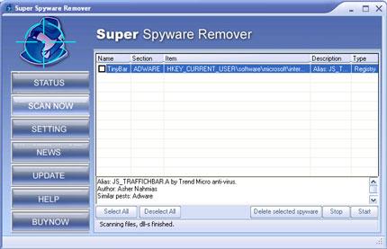 Super Spyware Remover snapshot