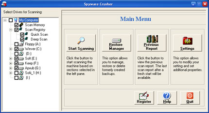 Spyware Crusher snapshot