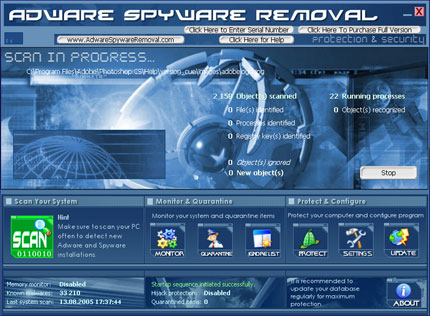 AdWare SpyWare Removal snapshot