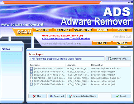 ADS Adware Remover snapshot