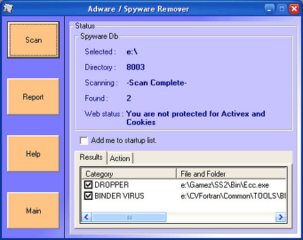 Adware Spyware Remover snapshot